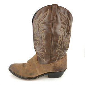 Laredo LEA VAMP FOX Leather Western Cowboy Boots